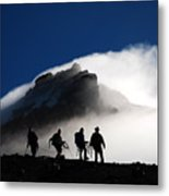 Descent From Storm Metal Print