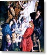 Descent From The Cross After Peter Paul Rubens Metal Print