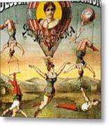 Descente D'absalon Par Miss Stena - Aerialists, Circus - Retro Travel Poster - Vintage Poster Metal Print