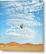 Desert Balloon Metal Print