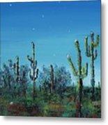 Desert Blue Metal Print