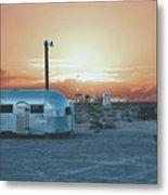 Desert Caravan Metal Print