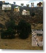 Desert Cottages Metal Print