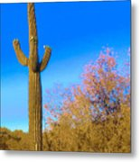 Desert Duo In Bloom Metal Print