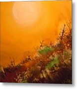 Hot Desert  Evening  Metal Print