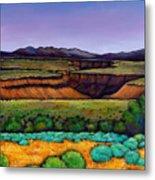 Desert Gorge Metal Print