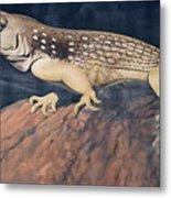Desert Iguana Mural Metal Print