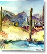 Desert In The Morning Metal Print