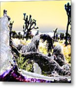Desert Landscape - Joshua Tree National Monment Metal Print