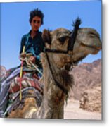 Desert Locomotion Metal Print
