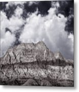 Desert Mountain Showing Iron Oxide Stripe Metal Print