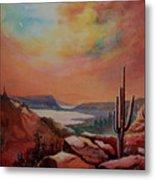 Desert Oasis Metal Print