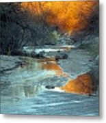 Desert Reflections Metal Print