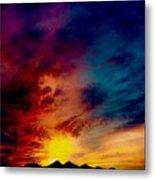 Desert Skull Of The Saguaro Sunset #3 Metal Print