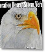 Desert Storm Eagle Metal Print