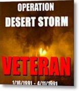 Desert Storm Vet Phone Case Work Metal Print
