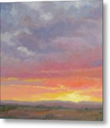 Desert Sundown Metal Print