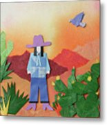 Desert Sunrise By Mary Ellen Palmeri Metal Print