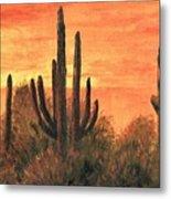 Desert Sunset I Metal Print