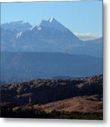 Desert To Mountains Metal Print