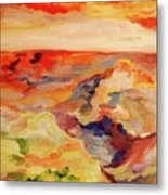 Desert Valley At Sunset  Metal Print