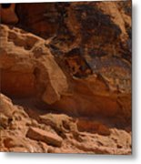 Desert Varnish Petroglyphs Valley Of Fire Metal Print