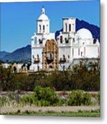 Desert View - San Xavier Mission - Tucson Arizona Metal Print