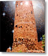 Desert View Tower, Starry Night, Grand Canyon Metal Print