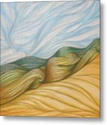 Desert Waves Metal Print