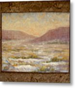 Desert Winter Metal Print