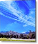 Desert Winter Sky Metal Print