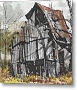 Deserted Barn Metal Print