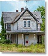 Deserted Oklahoma Farmhouse Metal Print