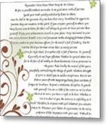 Desiderata Daisy Vines Metal Print