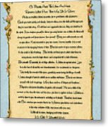 Desiderata Poem On Antique Paris Postcard Metal Print