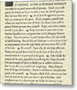 Desiderata Poem On Parchment Metal Print