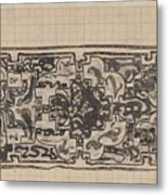 Design For A Binding For Charivaria, Carel Adolph Lion Cachet, 1874 - 1945 Metal Print