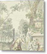 Design For A Room Piece Dorinda Returns Silvio His Dog, Dionys Van Nijmegen, 1715 - 1798 Metal Print