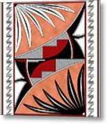 Southwest Collection - Design Three In Red Metal Print