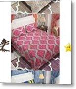 Designer Bed Sheet To Decor Home Metal Print