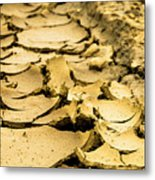 Designs In The Mud Metal Print