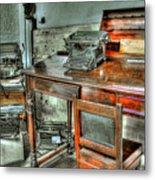 Desk Or Typewriter Metal Print