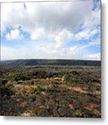 Desolate Lava Field Metal Print