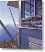 Desolation Peak Fire Lookout Cabin Sign Metal Print