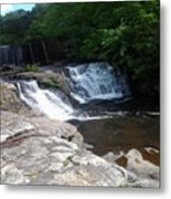 Desoto Falls In Alabama Metal Print