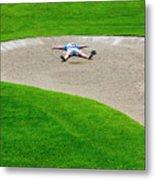 Desperate Golfer Metal Print