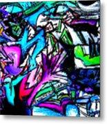 Destination Unknown Neon Metal Print