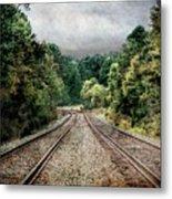 Destination Unknown, Travel Journey Train Tracks Metal Print