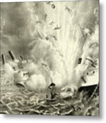 Destruction Of The Us Battleship Maine, 15th February, 1898 Metal Print