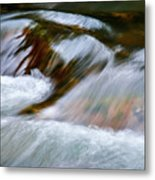 Detail Cascade Fall River Metal Print